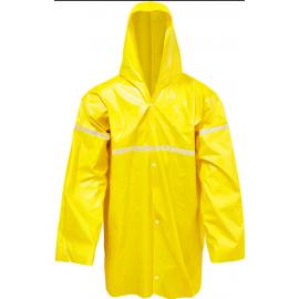 Capa de Chuva Forrada - Amarela - Com Refletivo