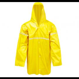 Capa de Chuva C/ Capuz Laminada Amarela