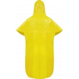 Capa de Chuva Tipo Morcego C/ Capuz Laminada Amarela