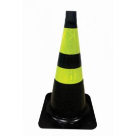 Cone de Sinalização Flexível Preto 75 cm