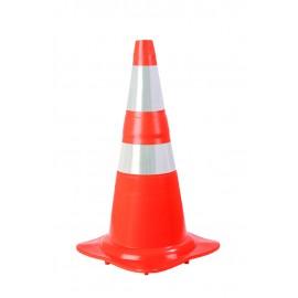 Cone Flexível - NBR 15701 - Faixa Adesivada