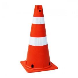 Cone Laranja Semi Flexível 75cm - Refletivo