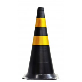 Cone Flexível - Pesado - Preto - Refletivo