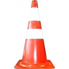 Cone de Sinalização Flexível Laranja 75 cm